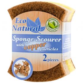 Eco Natural burete pentru spălat vase cu microparticule de cupru - 2buc