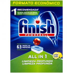 Finish All in 1 Lemon tablete pentru mașina de spălat vase - 63buc