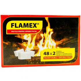 Flamex cubulețe de aprins focul - 48x2buc