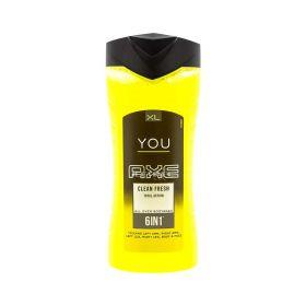 Gel de duș pentru bărbați Axe You Clean Fresh 6în1 - 400ml