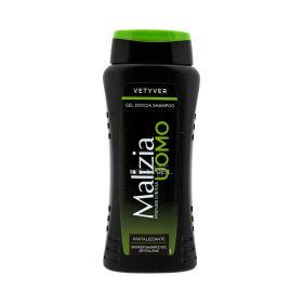Gel de duș / șampon pentru bărbați Malizia Vetyver - 250ml