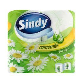 Hârtie igienică 3 straturi Sindy Camomile - 4role