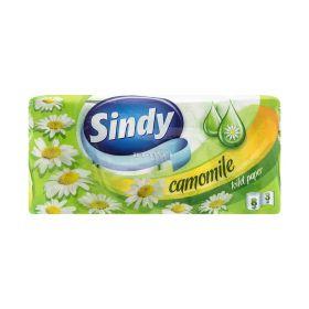 Hârtie igienică 3 straturi Sindy Camomile - 8role