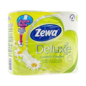 Hârtie igienică 3 straturi Zewa Deluxe Camomile Comfort - 4role