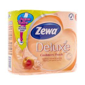 Hârtie igienică 3 straturi Zewa Deluxe Cashmere Peach - 4role