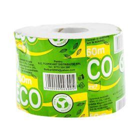 Hârtie igienică Florys Eco 60m 1 strat cu tub - 1rolă