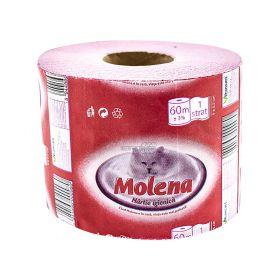Hârtie igienică Florys Molena roz 60m 1strat - 1rolă