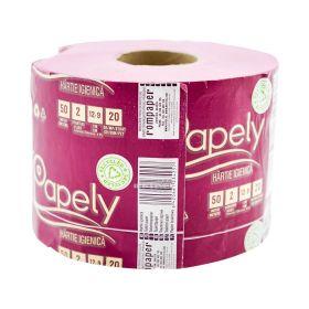 Hârtie igienică Florys Papely Roz 2 straturi 50m cu tub - 1rolă