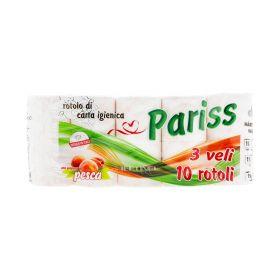 Hârtie igienică Pariss Piersică 3 straturi - 10role