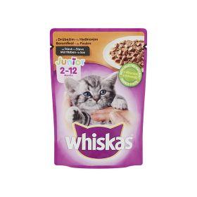Hrană umedă cu pasăre pentru pisici Whiskas Junior - 100gr