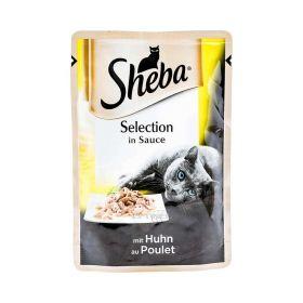 Hrană umedă cu pui pentru pisici Sheba - 85gr