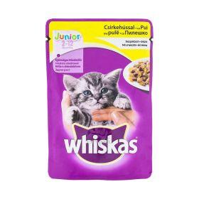 Hrană umedă cu pui pentru pisici Whiskas Junior (2-12 luni) - 100gr