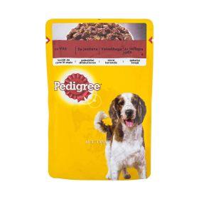 Hrană umedă cu vită pentru câini adulți Pedigree - 100gr