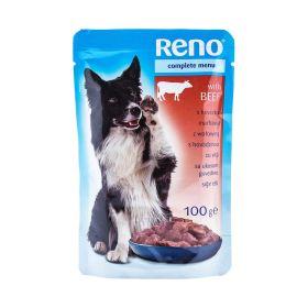 Hrană umedă pentru câini Reno cu vită - 100gr