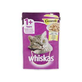 Hrană umedă pentru pisici Whiskas 1+ ani Casserole cu pui - 85gr