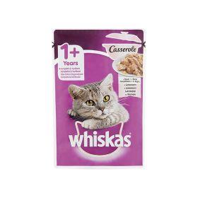Hrană umedă pentru pisici Whiskas 1+ ani Casserole cu somon - 85gr