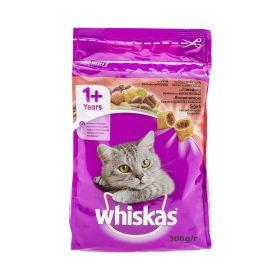 Hrană uscată cu vită pentru pisici adulte Whiskas - 300gr