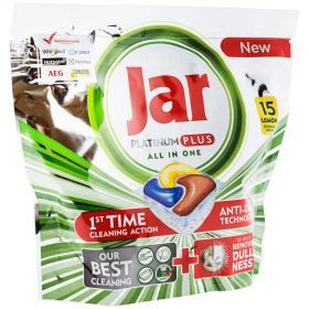 Jar Platinum Plus detergent capsule pentru mașina de spălat vase - 15 buc