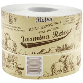 Jasmina Retro Natur hârtie igienică cu tub 1 strat - 1 rolă
