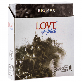 Love Plus Big Max prezervative - 3buc