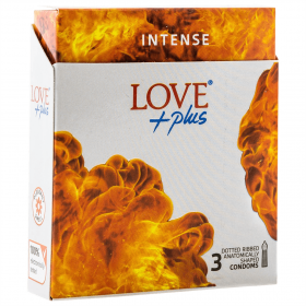 Love Plus Intense prezervative - 3buc