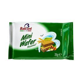 Napolitane Balconi Mini Wafer cu cremă de alune 25gr