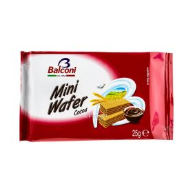 Napolitane Balconi Mini Wafer cu cremă de cacao - 25gr