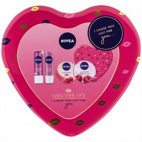 Set F-Nivea 5p Luscious Lips Heart cutie metal