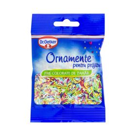 Ornamente pentru prăjituri Dr. Oetker fire colorate de zahăr - 30gr