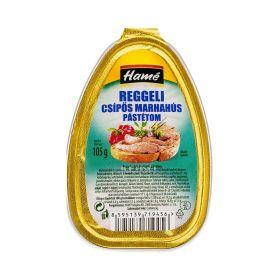 Pate iute cu carne de vită Hamé Reggeli - 105gr