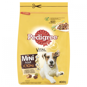 DOG Pedigree-uscat Ad.400g pasare t.mica