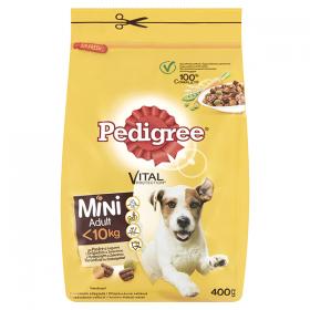 Pedigree Mini Adult hrană uscată cu pasăre pentru câini cu talie mică - 400gr