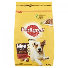 Pedigree Mini Adult hrană uscată cu vită și legume pentru câini cu talie mică - 400gr