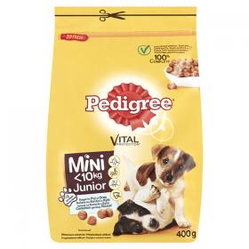 Pedigree Mini JR hrană uscată cu pui și orez pentru câini cu talie mică - 400g