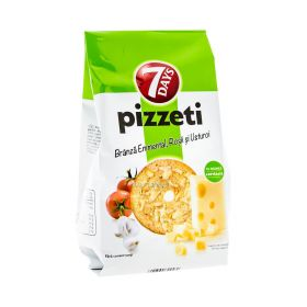 Pizzeti cu brânză emmental roșii și usturoi 7Days - 80gr