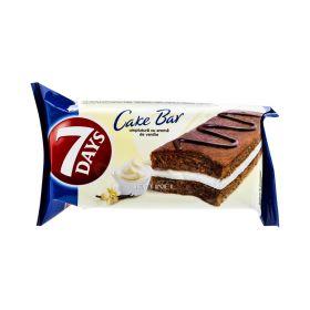 Prăjitură 7Days Cake Bar cu umplutură de vanilie - 32gr