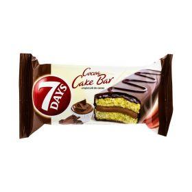 Prăjitură 7Days Cake Bar glazurată cu umplutură de cacao - 32gr
