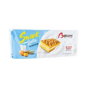 Prăjitură Balconi Snack Latte cu cremă de lapte - 10x28gr