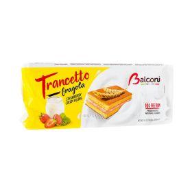 Prăjitură Balconi Snack Trancetto cu cremă de căpșuni - 10x28gr