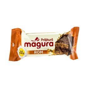 Prăjitură pufoasă Măgura cu cremă de rom - 35gr