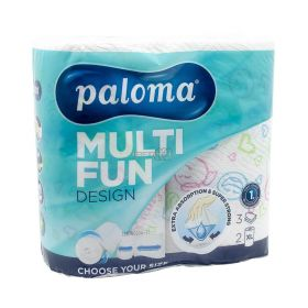 Prosop de bucătărie Paloma Multi Fun 3straturi Food XL - 2role