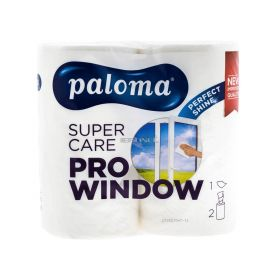 Prosop de hârtie Paloma Super Care Pro Window - 2role