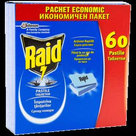 Raid anti-țânțari pastile laminate - 60buc