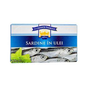 Sardine în ulei La Grande Famiglia - 125gr