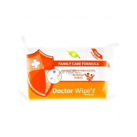 Șervețele umede antibacteriene Doctor Wipe's Family Care - 72buc