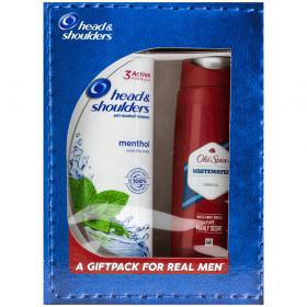 Set cadou pentru bărbați șampon Head and Shoulders Menthol + gel de duș Old Spice Whitewater