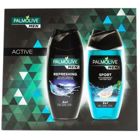 Set cadou pentru bărbați Palmolive Active : gel de duș Active Refresh + gel de duș Sport - 2x250ml