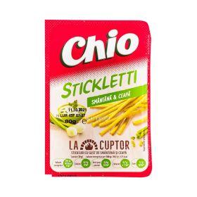 Sticks cu aromă de smântână și ceapă Chio Stickletti - 80gr