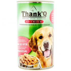 ThankQ Dog-cons.1240g carne de vita