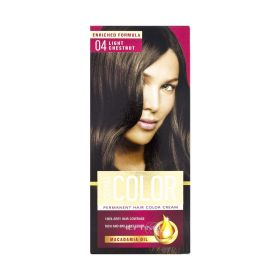 Vopsea de păr Aroma Color 04 Castaniu Deschis - 90ml